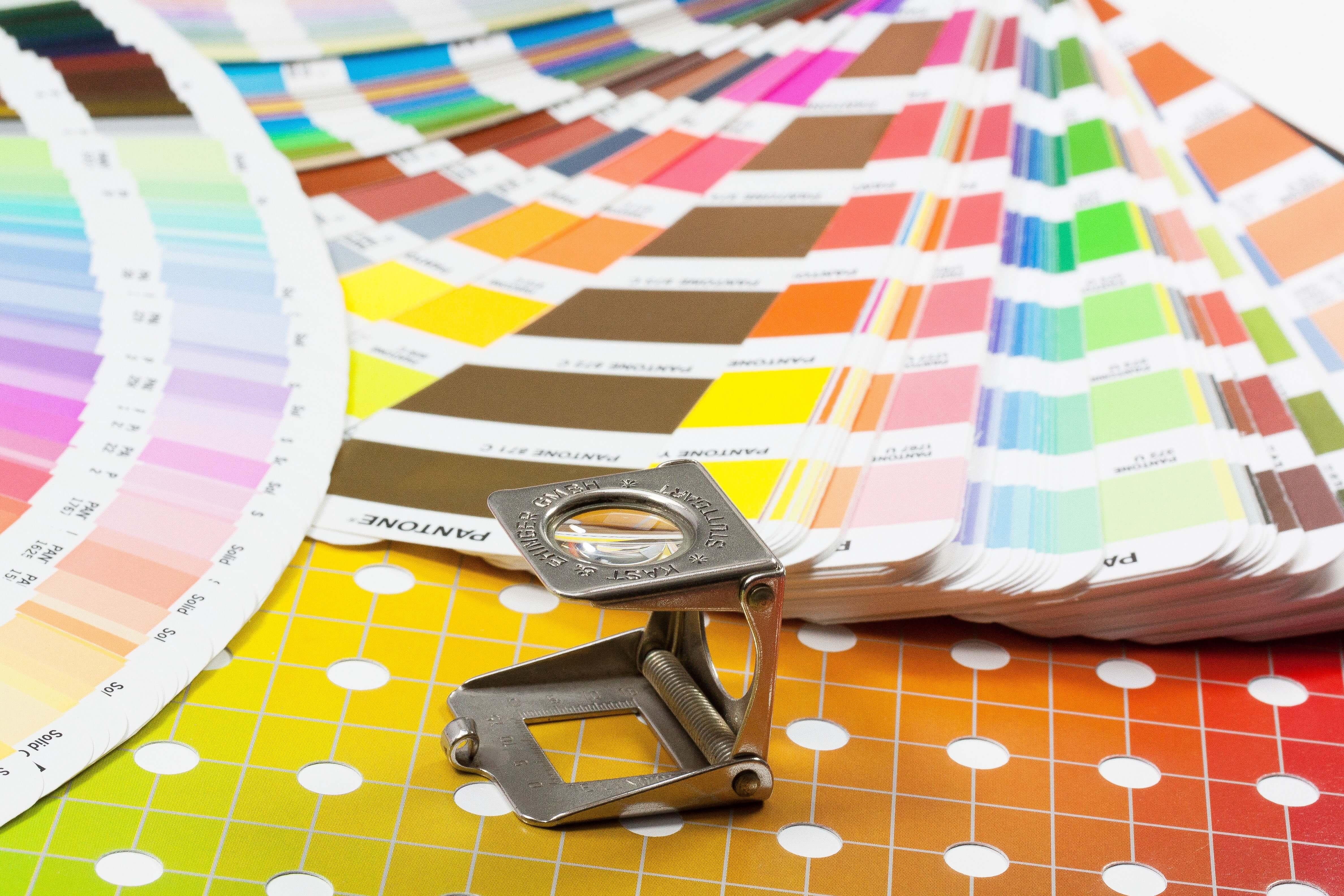 Farbfächer für Druckerei