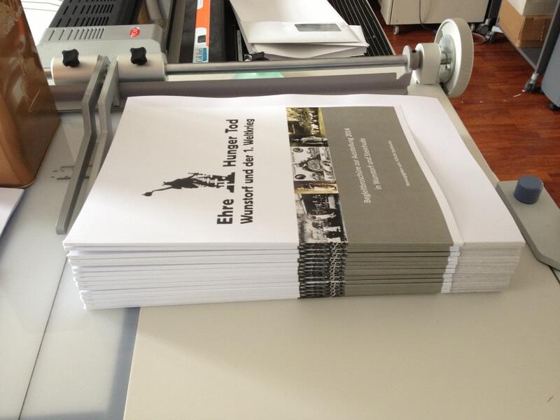 Broschüren in Produktion